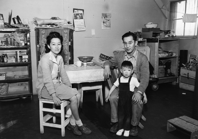 Young Lawyer and his Family at Manzanar Relocation Center