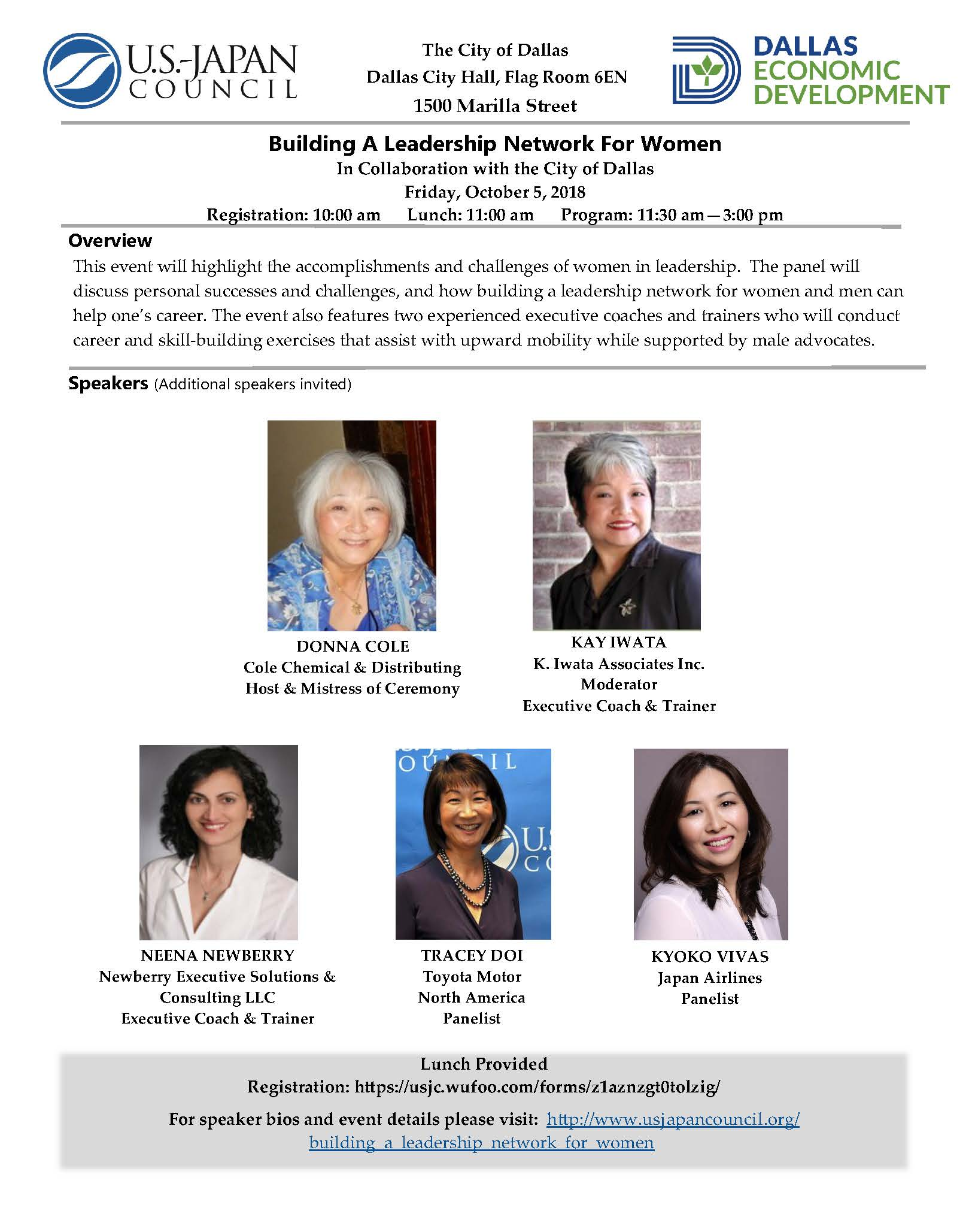 Building A Leadership Network For Women in Collaboration with the City of Dallas
