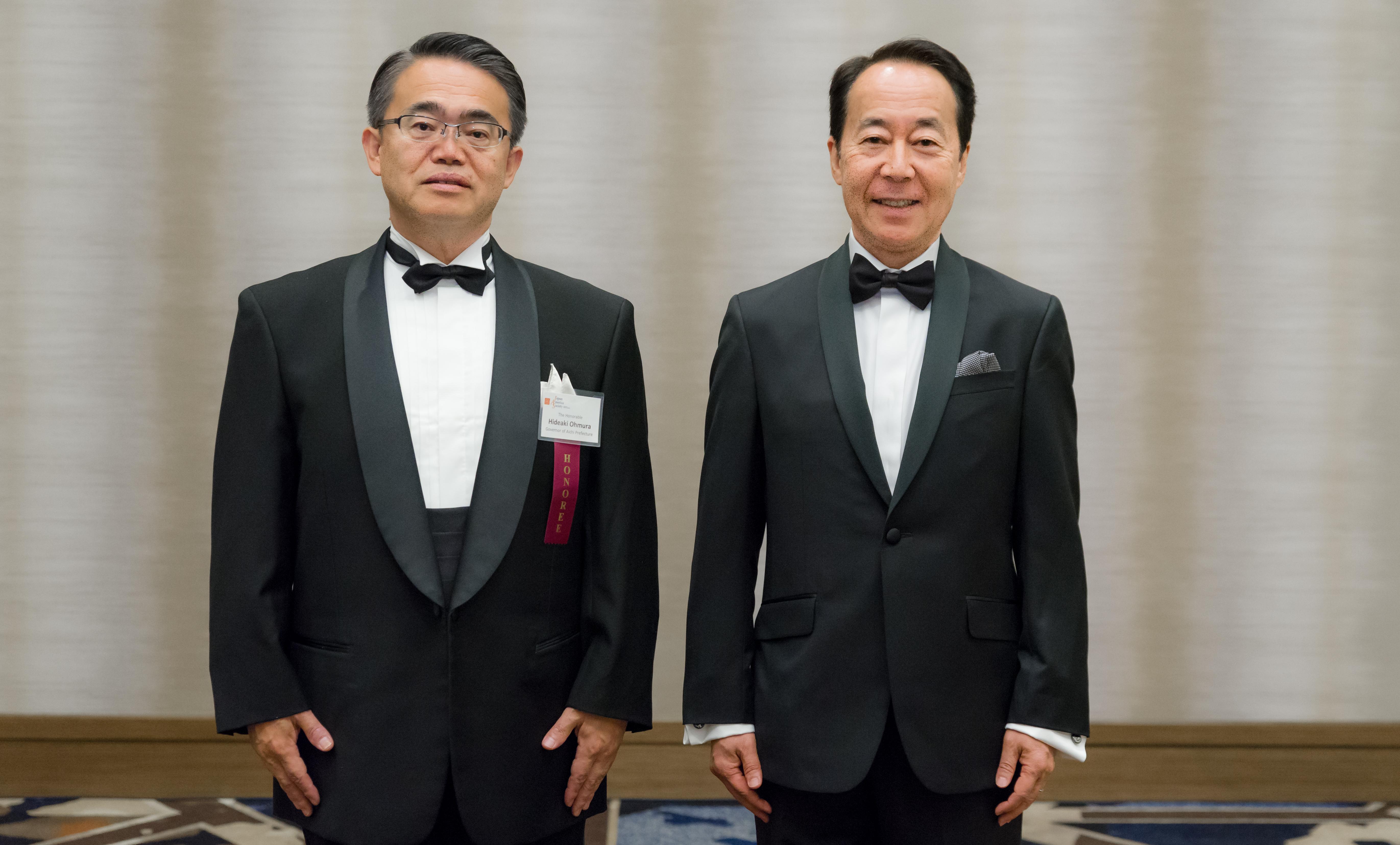 Governor Hideaki Ohmura and Shinsuke Takahasi Honored at Sun & Star Legacy Award Dinner